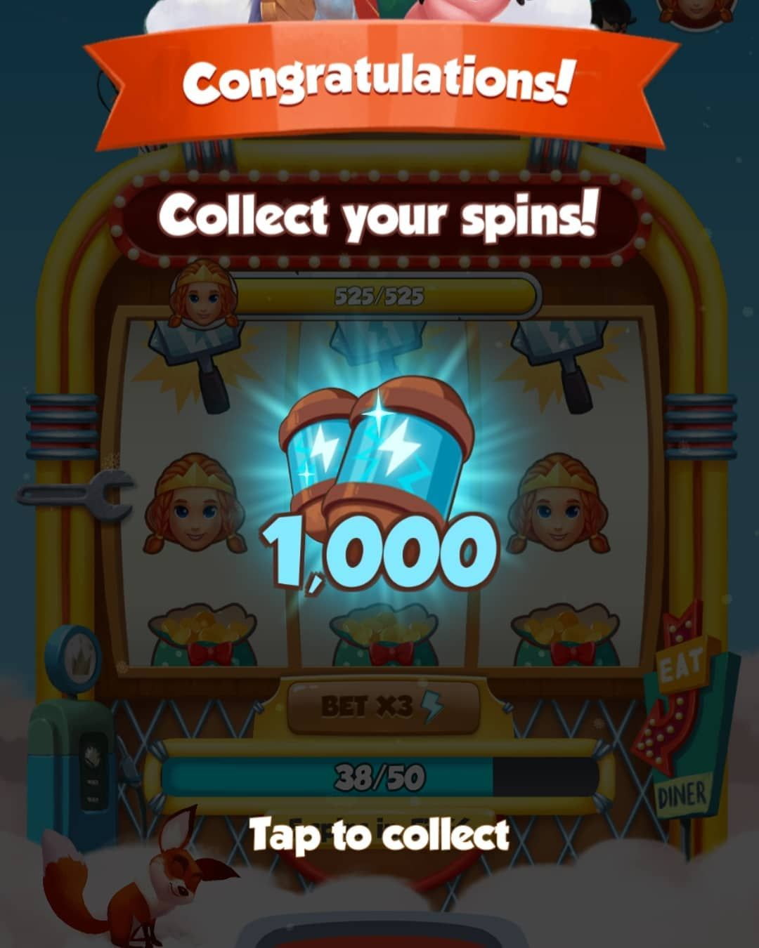 Visit the website to get free spins and coins