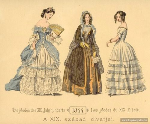 zeehasablog:  Fashion plate, 1844