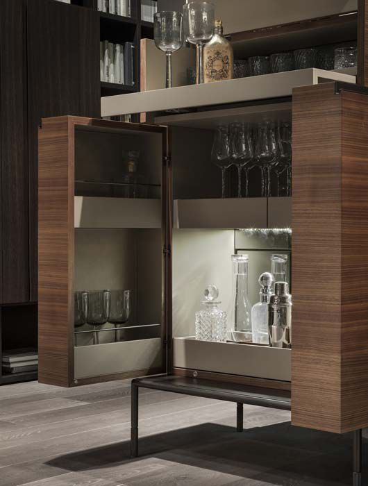 Contemporary Bar Cabinet Metal Wooden By Christophe Pillet Winston Lema Home