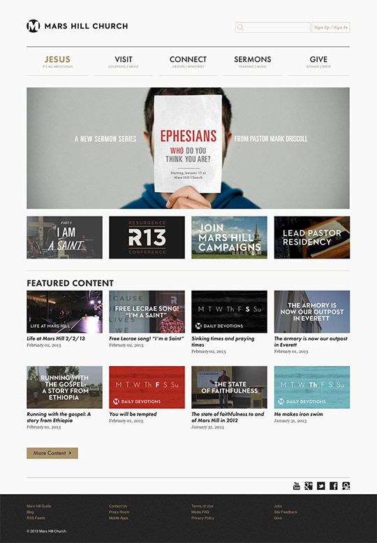 40 Great Church Websites Of 2013 Churchrelevance Com Church Websites Church Branding Church Website Design