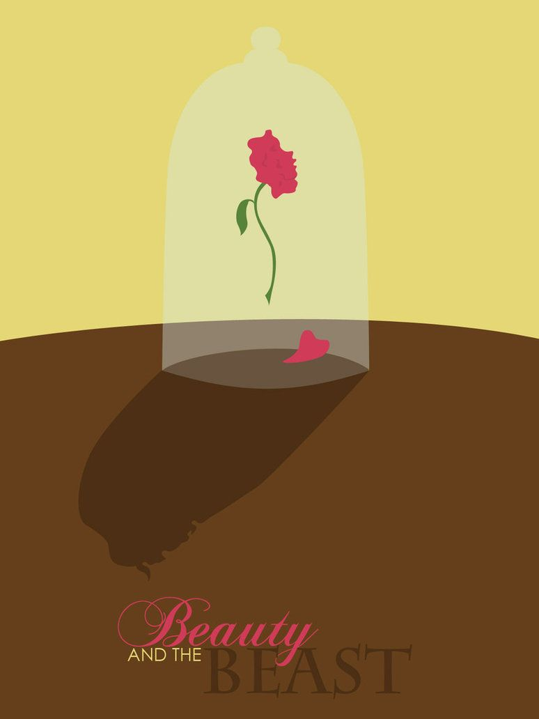 beauty and the beast disney minimalist poster disney