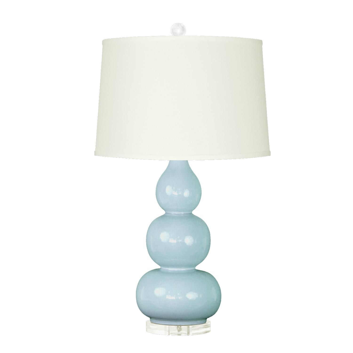 Light Blue American Ceramic Clear Acrylic Finial And Base Blue Table Lamp Green Table Lamp Blue Lamp