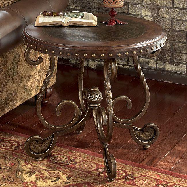 i like this end table | METAL WORK | Pinterest | Muebles rústicos ...
