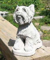 Concrete Yorkshire Terrier Dog Statue