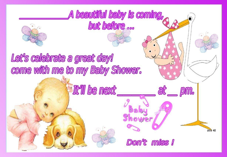 Invitaciones De Baby Shower En Ingles Como Llenar Una