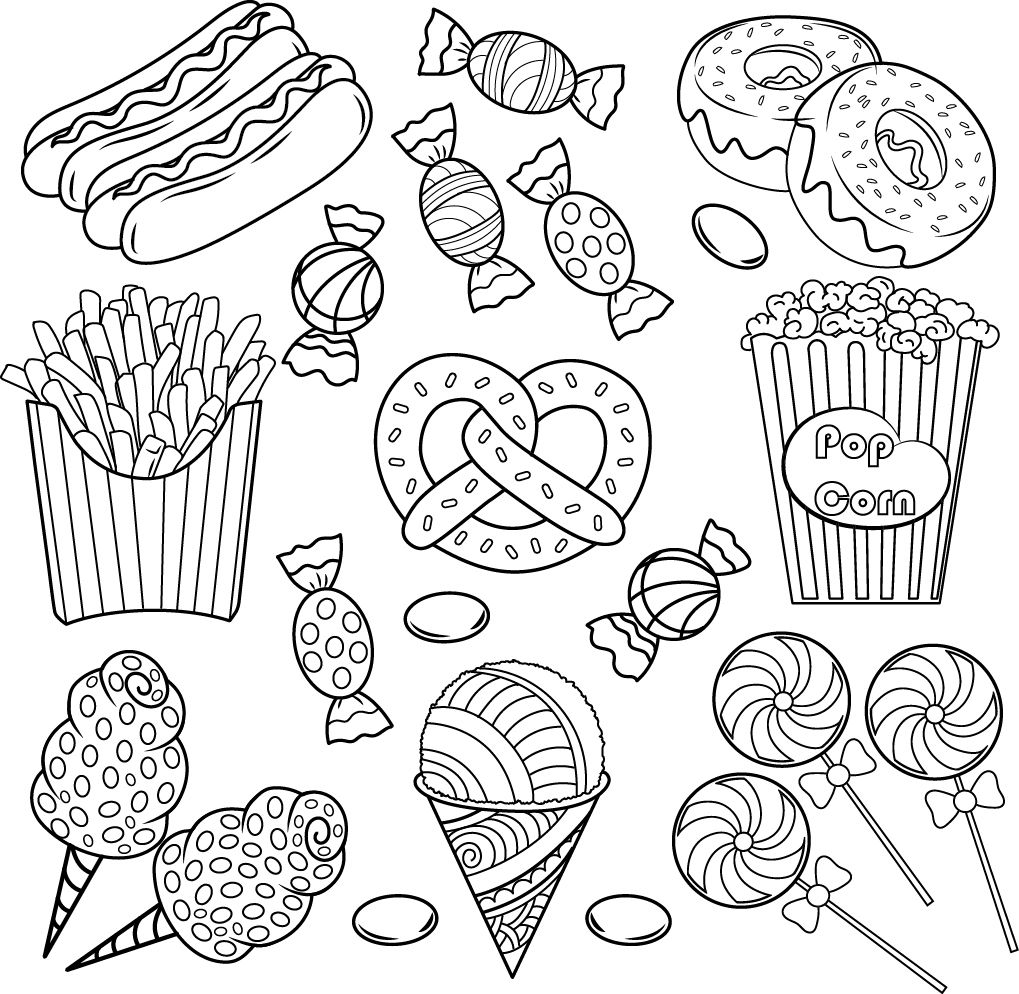 Pin By Del C On Coloring Food Drinks Cute Coloring Pages Coloring Books Doodle Drawings