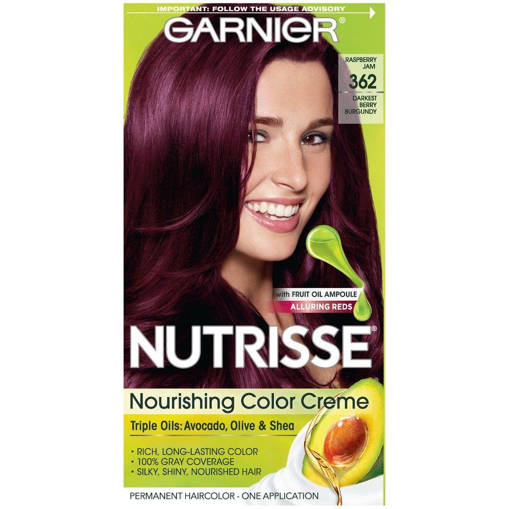 Garnier nutrisse nourishing color creme darkest berry burgundy