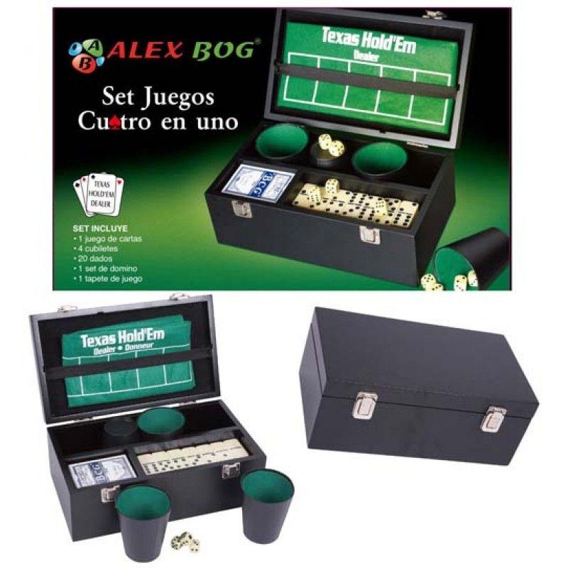 Caja de juegos cuatro en uno.  http://www.cosaspararegalar.es/ideas-para-regalar/juegos-de-mesa/box-juegos.html