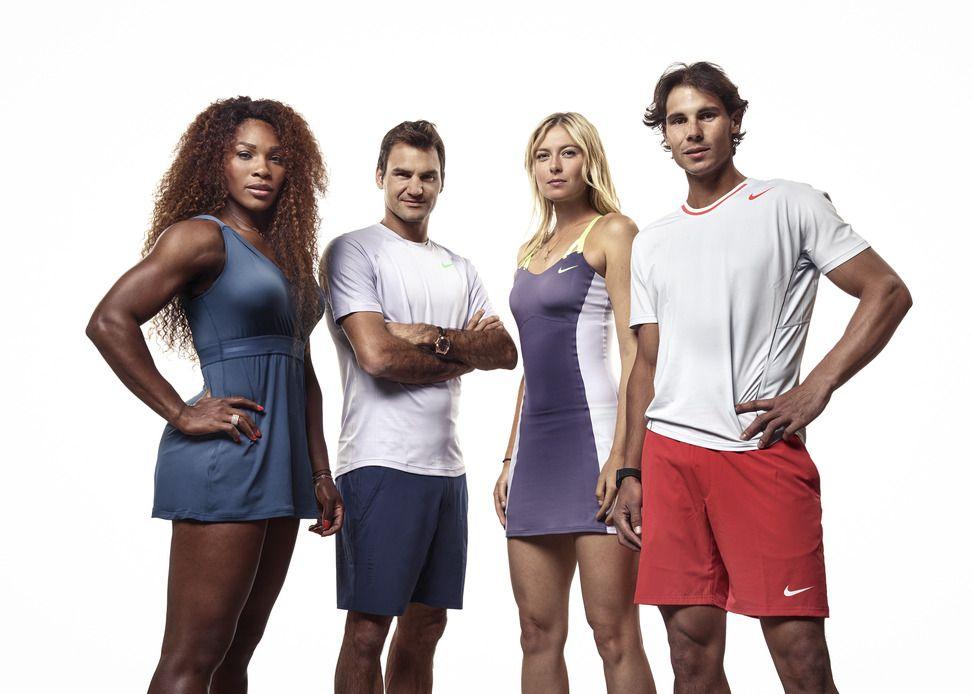 Nike Tennis Stars Set The Night Aglow In Paris Tennis Stars Nike Tennis Maria Sharapova