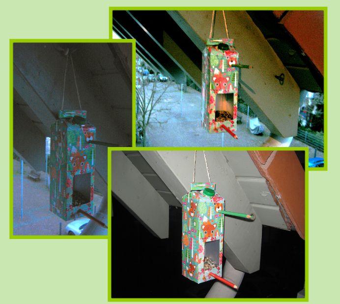 diy vogelhaus aus tetrapack f r den balkon oder die. Black Bedroom Furniture Sets. Home Design Ideas