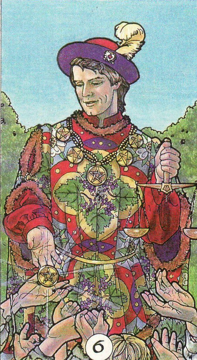 Six Of Pentacles Robin Wood Tarot I Am Attracted To This Look Of Having One Thicker Contour Line Around The Larger Pentacles Tarot Tarot Card Meanings Tarot ✅ trang chủ » ý nghĩa 78 lá bài tarot(✅ đã xác minh) » bộ ẩn phụ (minor arcana) » diễn giải xuôi của lá bài 6 of pentacles. six of pentacles robin wood tarot i