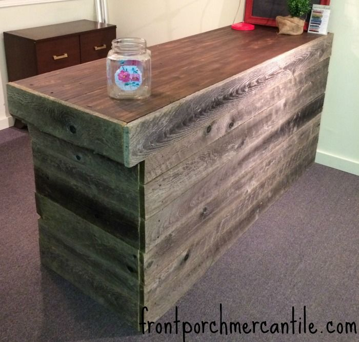 Reclaimed Bowling Alley Counter Top Bar