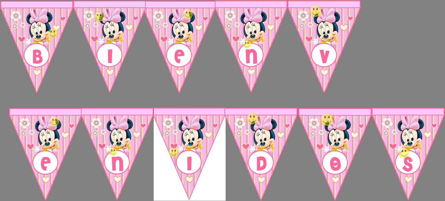 Kit Imprimible Minnie Mouse Bebe Rosa Tarjetas Recuerdos   Kit ...