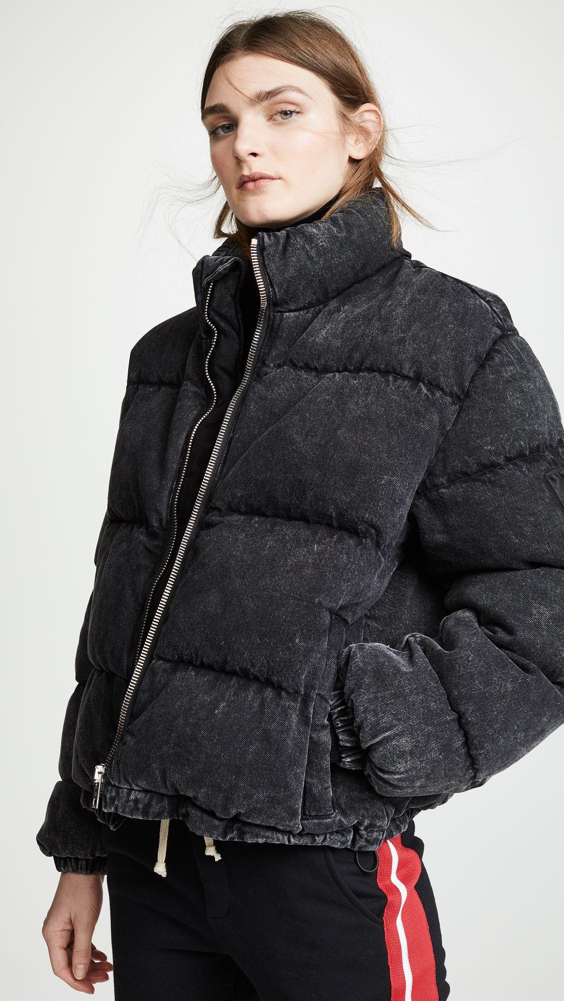 Denim X Alexander Wang Puffer Jacket Puffer jackets