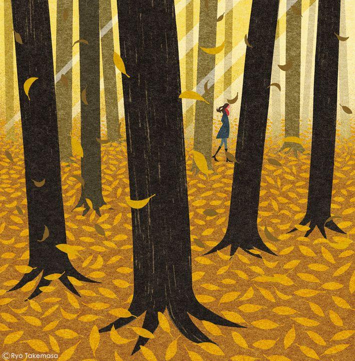 Non November 2015 On Behance Autumn Illustration Art Prints Art