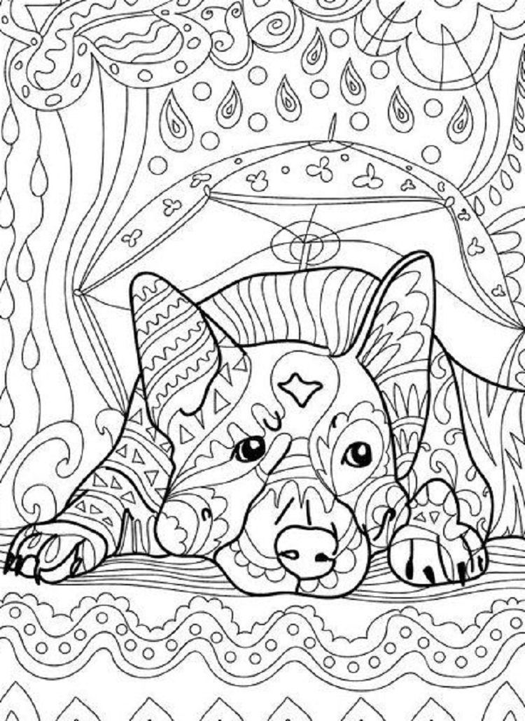 Dog Art Therapy Coloring Pages Dog Coloring Book Dog Coloring Page Coloring Books