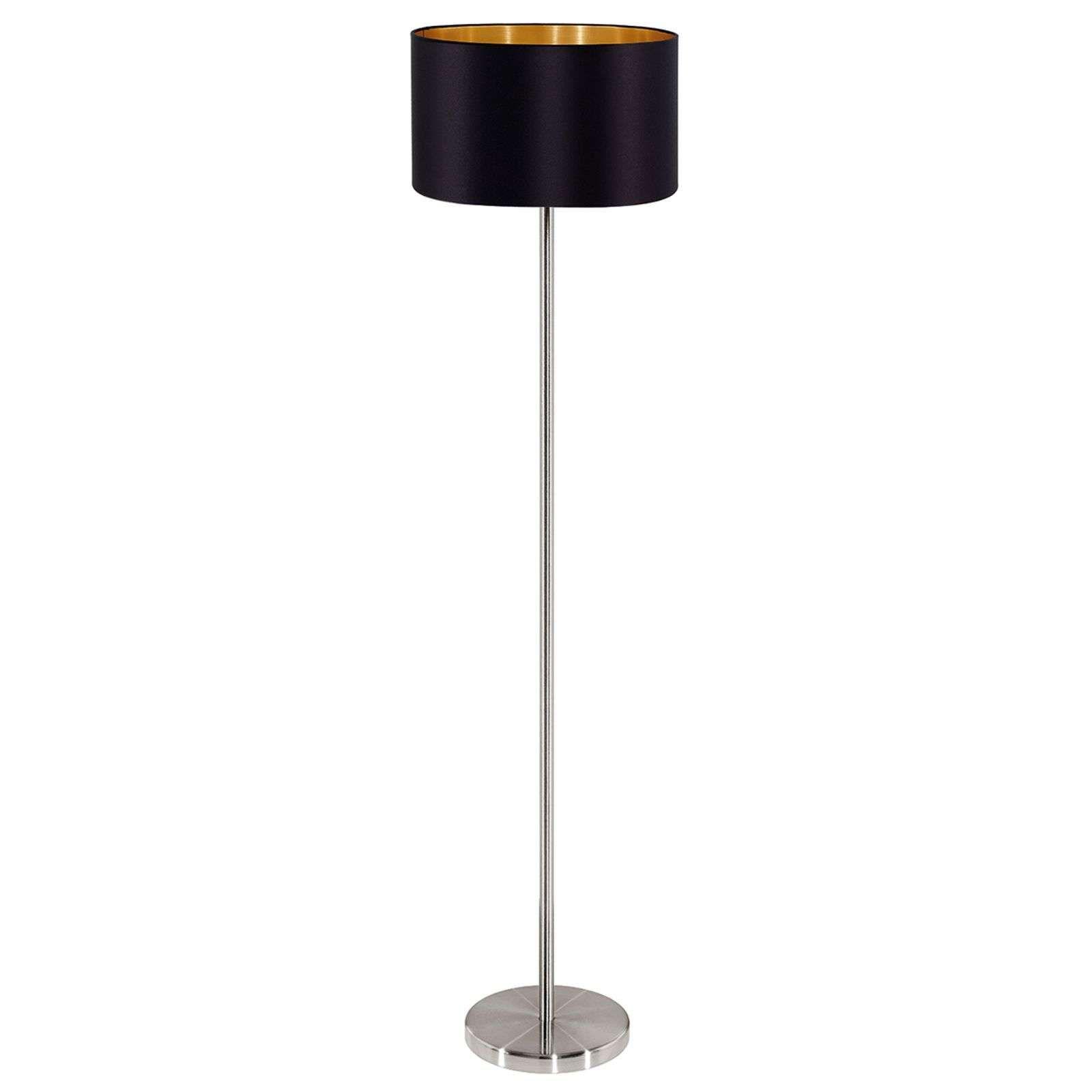 Moderne Stehlampe Maserlo Von Eglo Schwarz Moderne Stehlampen