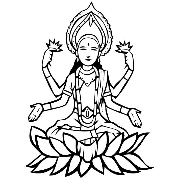 Goddess Lakshmi Coloring Pages Precious Moments Coloring Pages