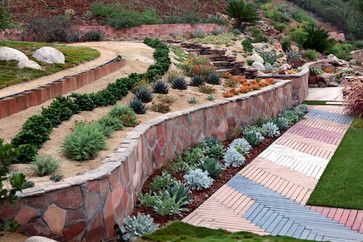 hill garden design ideas steep slope landscaping design ideas pictures