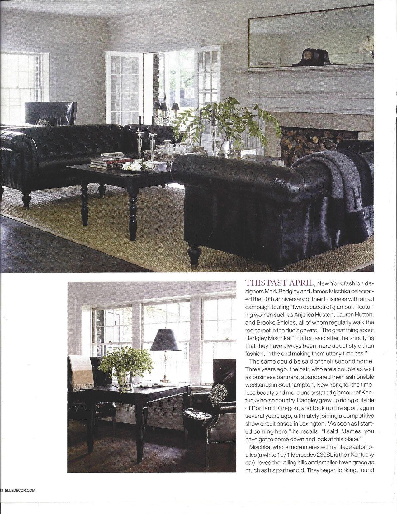 NY designers Mark Badgley and James Mischka's living room