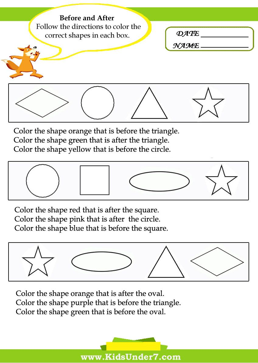 Before And After Worksheets Help Teach Kids About The Concepts Of Before And After Wi Free Kindergarten Worksheets Spring Math Worksheets Learning Worksheets [ 1190 x 848 Pixel ]