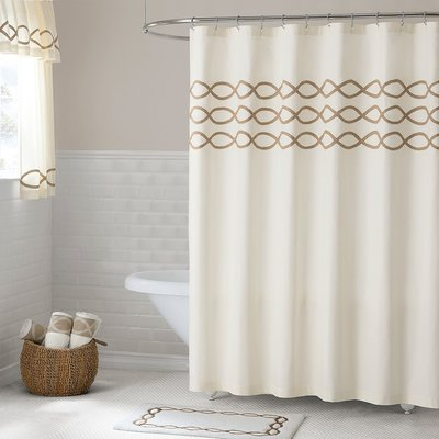 Charlton Home Gridley Cotton Shower Curtain Size 86 H X 72 W