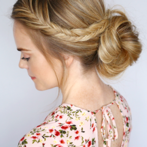 Fishtail Braid Bun Hairstyle Tumblr Braided Bun Hairstyles Fishtail Braid Buns Fish Tail Braid