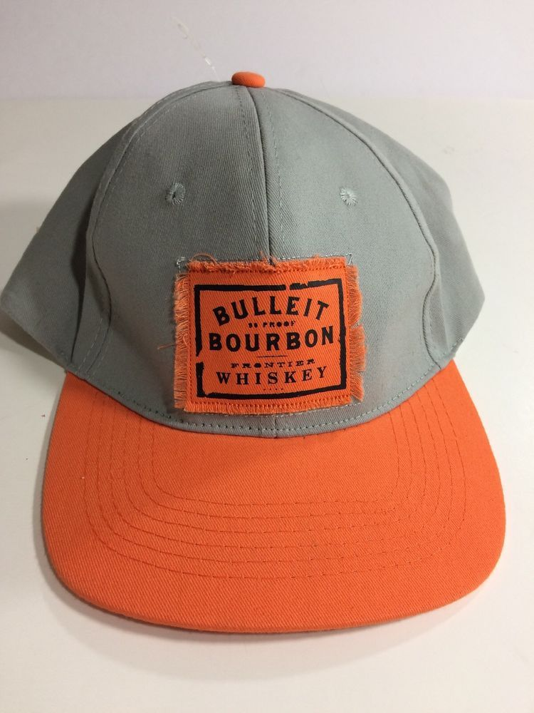 9adc5d9efbf Bulleit Bourbon Frontier Whiskey Adjustable Hat CAP Brand New Trucker Snap  Back  BulleitBourbonFrontierWhiskey  BaseballCap