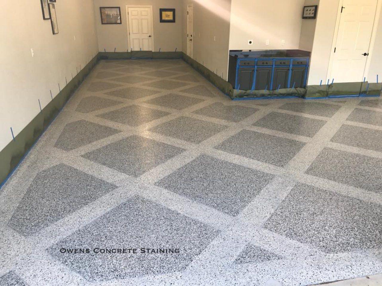 Epoxy Flake Garage Floor In Oklahoma City Oklahoma Oklahoma - Flooring contractors okc
