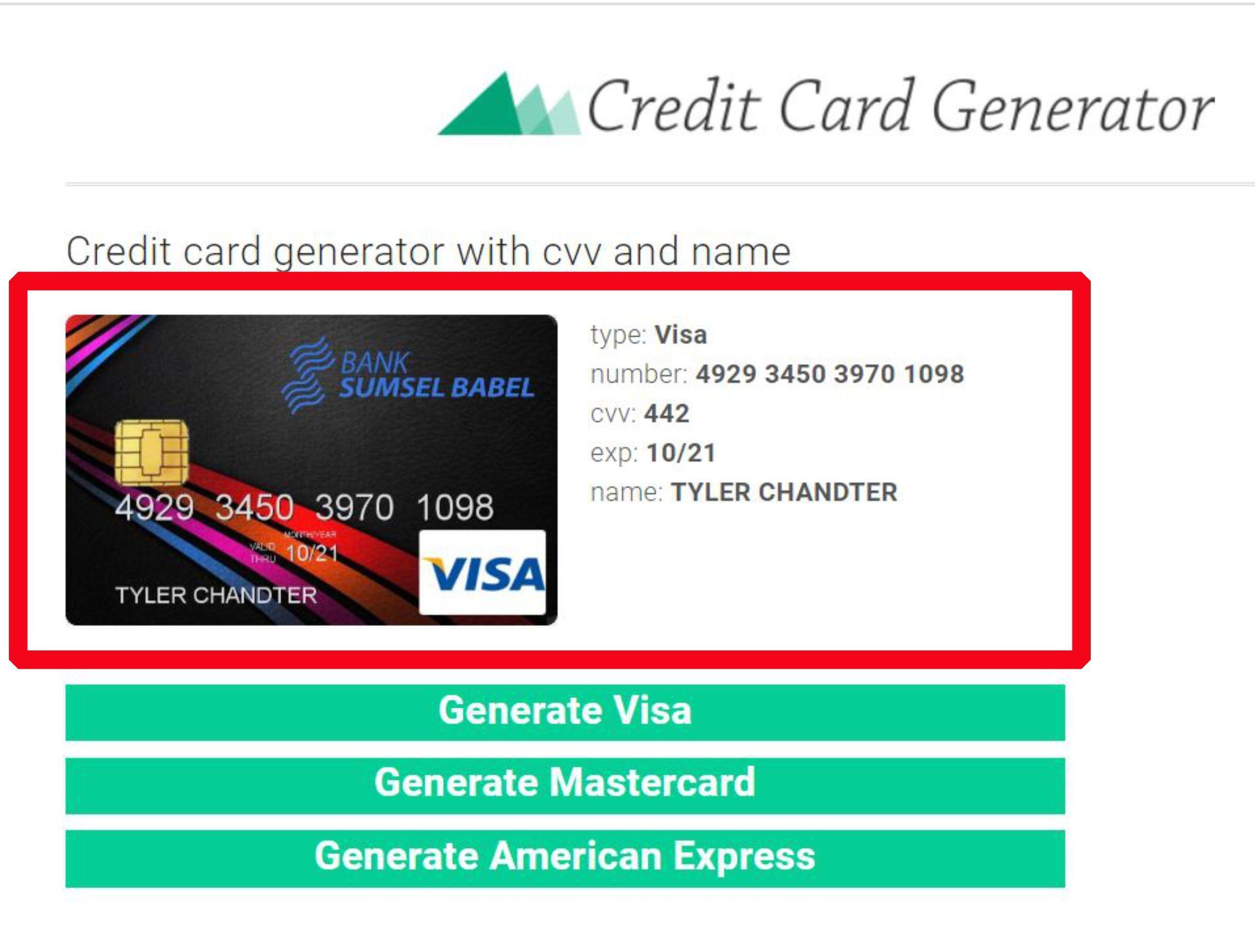 Creditcard Generator Mastercard Gift Card Credit Card Online Credit Card