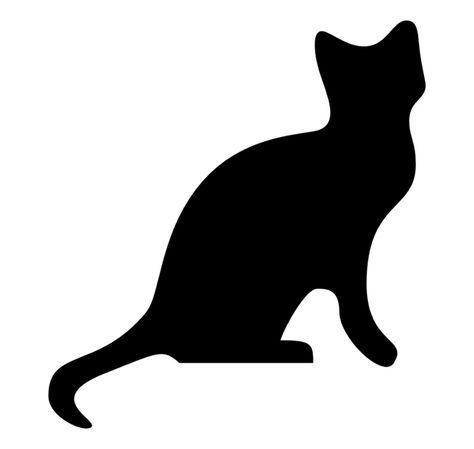 Wandschablonen Ausdrucken Katze Tier Kinderzimmer Vorlage