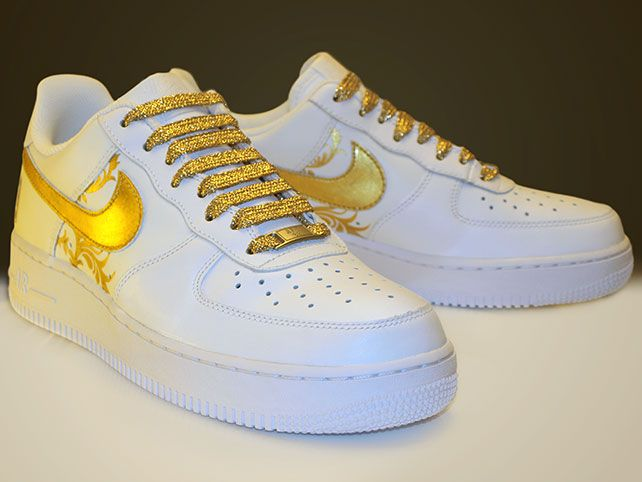 Nike air force · 24 Karat Gold Shoes - Custom Made Sneakers 1