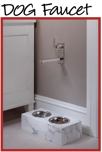 Built in dog bowl, with a faucet... SO CLEVER!!! They also can\'t ...