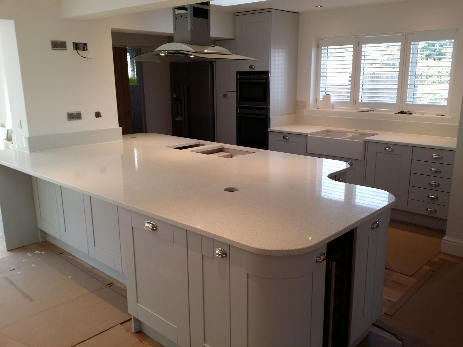White Kitchen Worktops granite offers timeless elegance for kitchen worktops. to get more