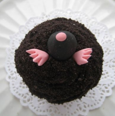 Holey Moley! A mole cupcake by Cameo Cupcakes. How cute is that?