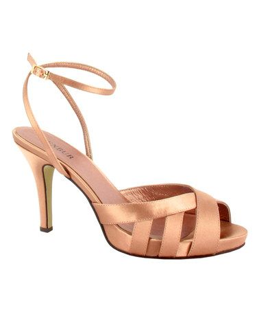 Nude Cage Peep-Toe Sandal by Menbur #zulily #zulilyfinds