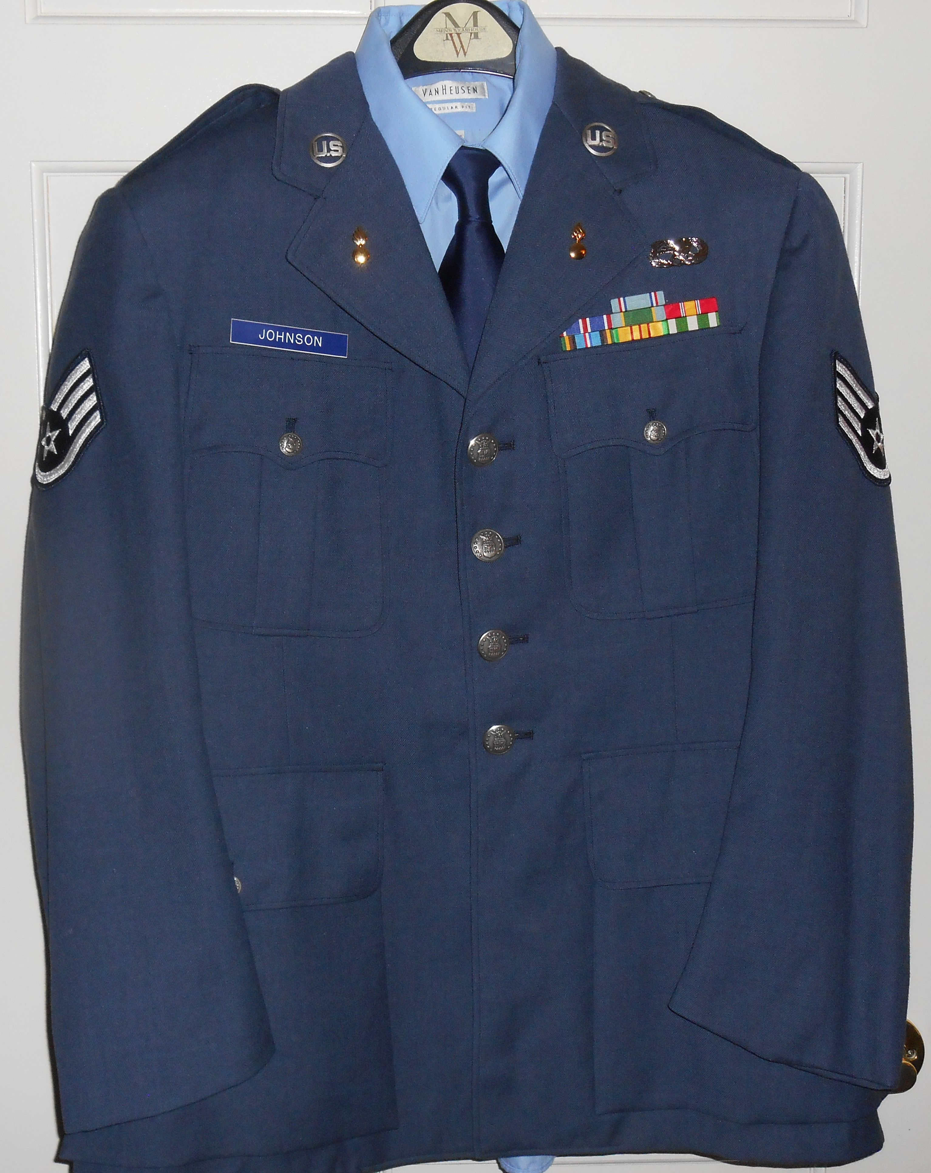 "U.S. Air Force ""Dress Blues"" uniform (Vietnam era) Air"