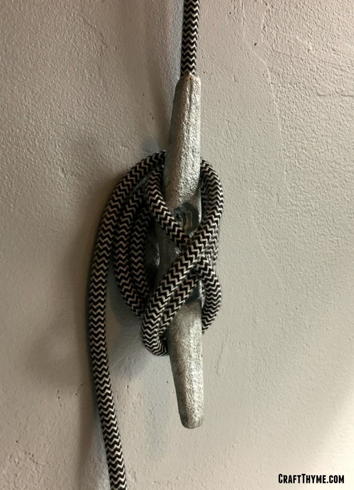 How To Make A Diy Pulley Light From Pulleys Braided Lamp Cord And Boat Cleats This Diy Tutorial Uses U Pulley Light Fixture Pulley Light Diy Light Fixtures
