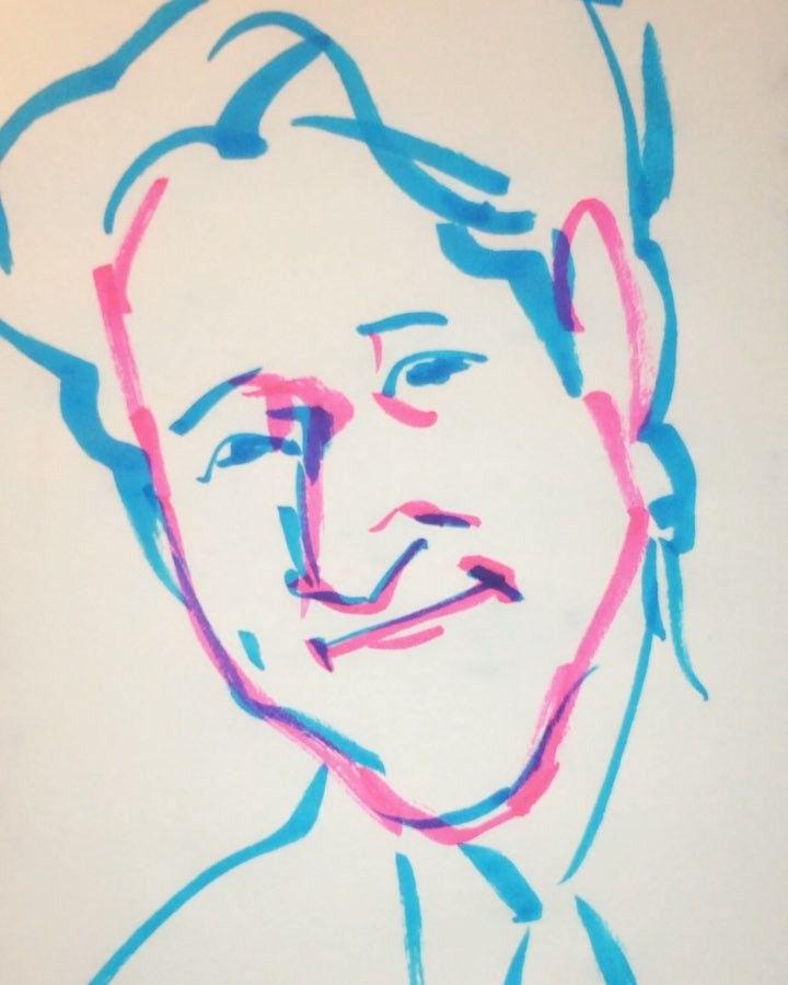 いいね!10件、コメント1件 ― @1mindrawのInstagramアカウント: 「#1mindraw #arakihirohiko #荒木飛呂彦 #JOJOの奇妙な冒険 #19600607 #birthday #誕生日 #portrait #筆ペン画」