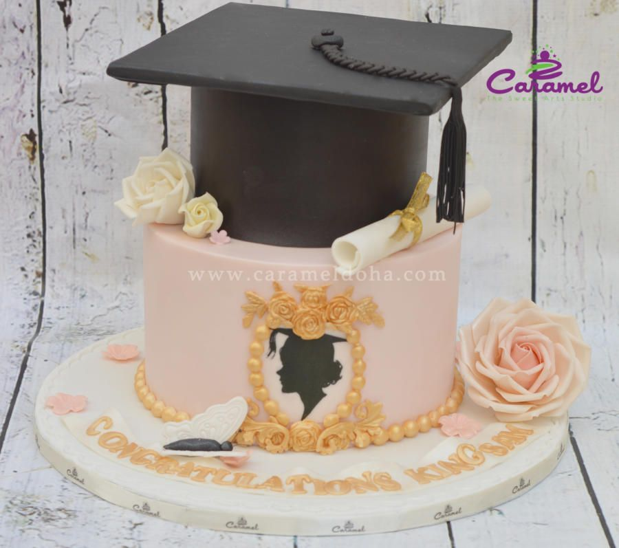 Cake Design For Matriculation : Graduation Cake by Caramel Doha Cakes & Cake Decorating ...