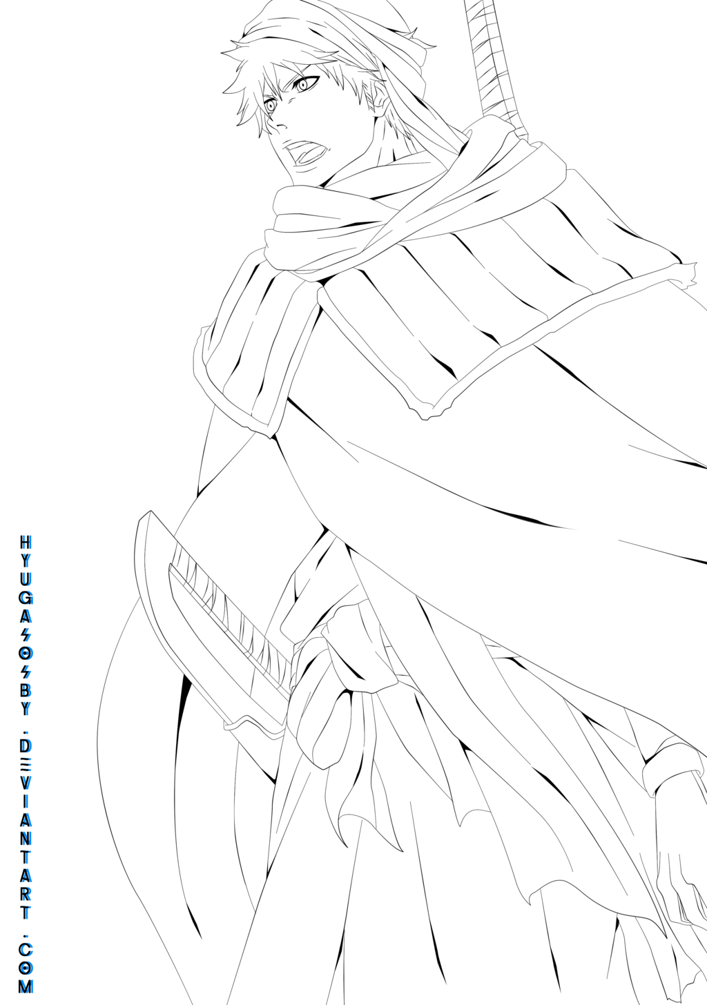 Pin On Lineart Bleach [ 1456 x 1024 Pixel ]