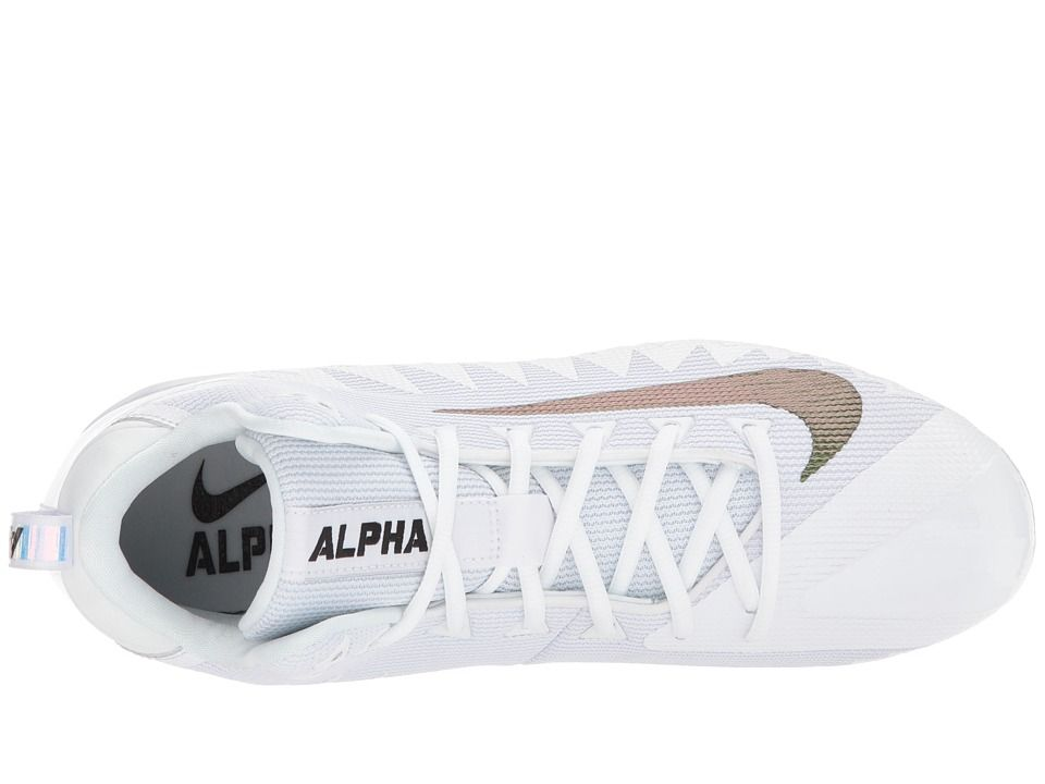 online retailer eb3bd c0227 Nike Alpha Menace Pro Mid Men's Cleated Shoes White/Black/Wolf Grey ...