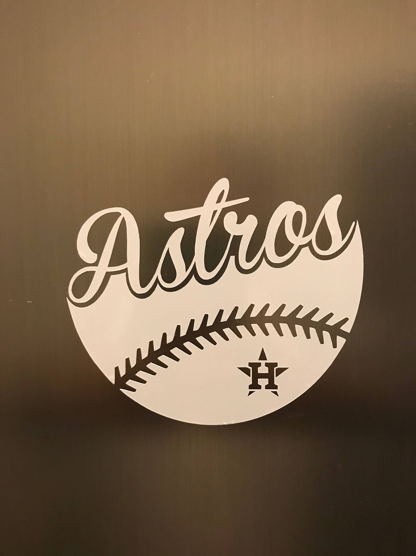 Houston astros baseball vinyl decal car window bumper sticker computer decal by getblasteddesigns on etsy