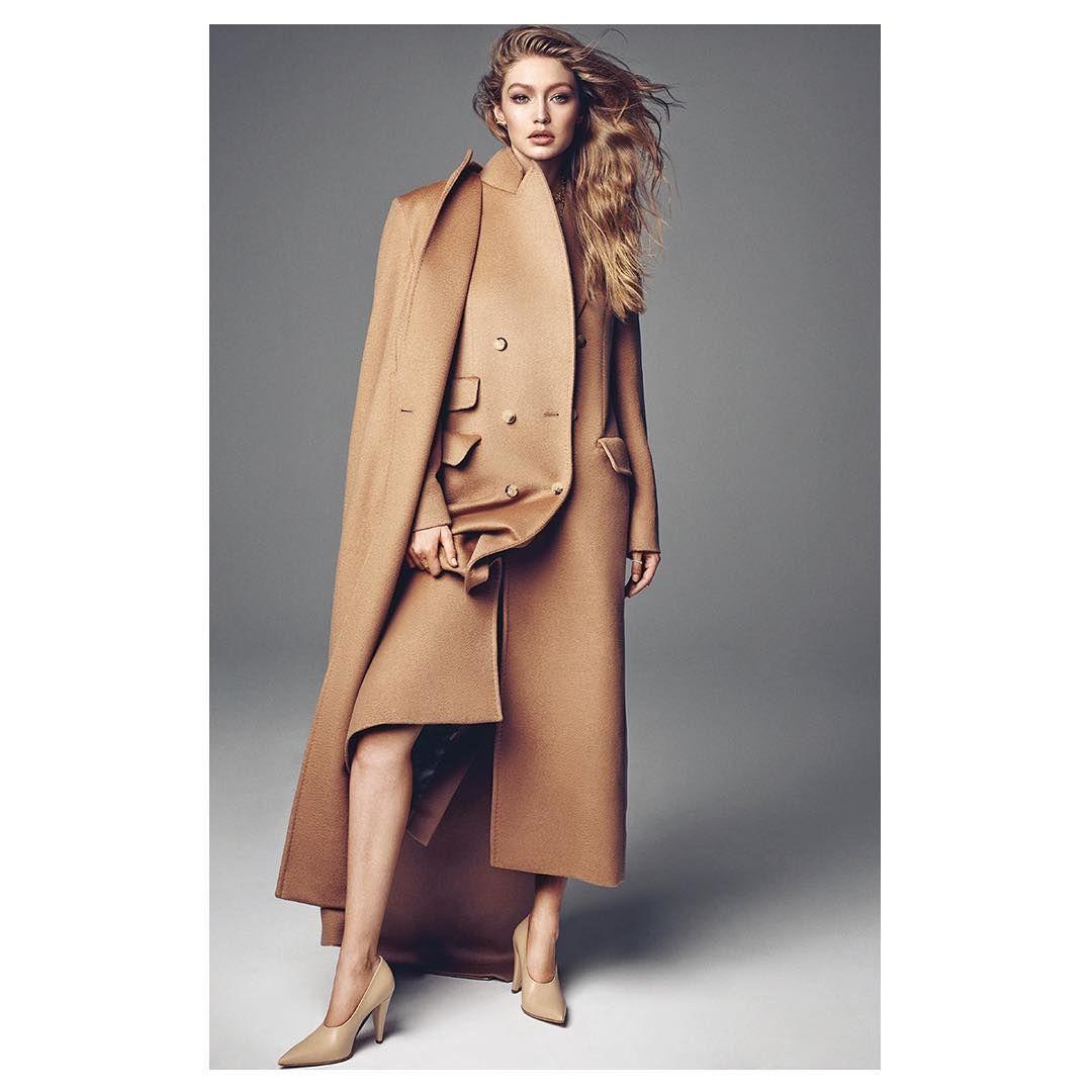 "3a04512de4ef9 Max Mara ( maxmara) på Instagram  ""Understated chic  a  MaxMara camel total  look worn by  gigihadid on  voguekorea. Editor  Eunyoung…"""