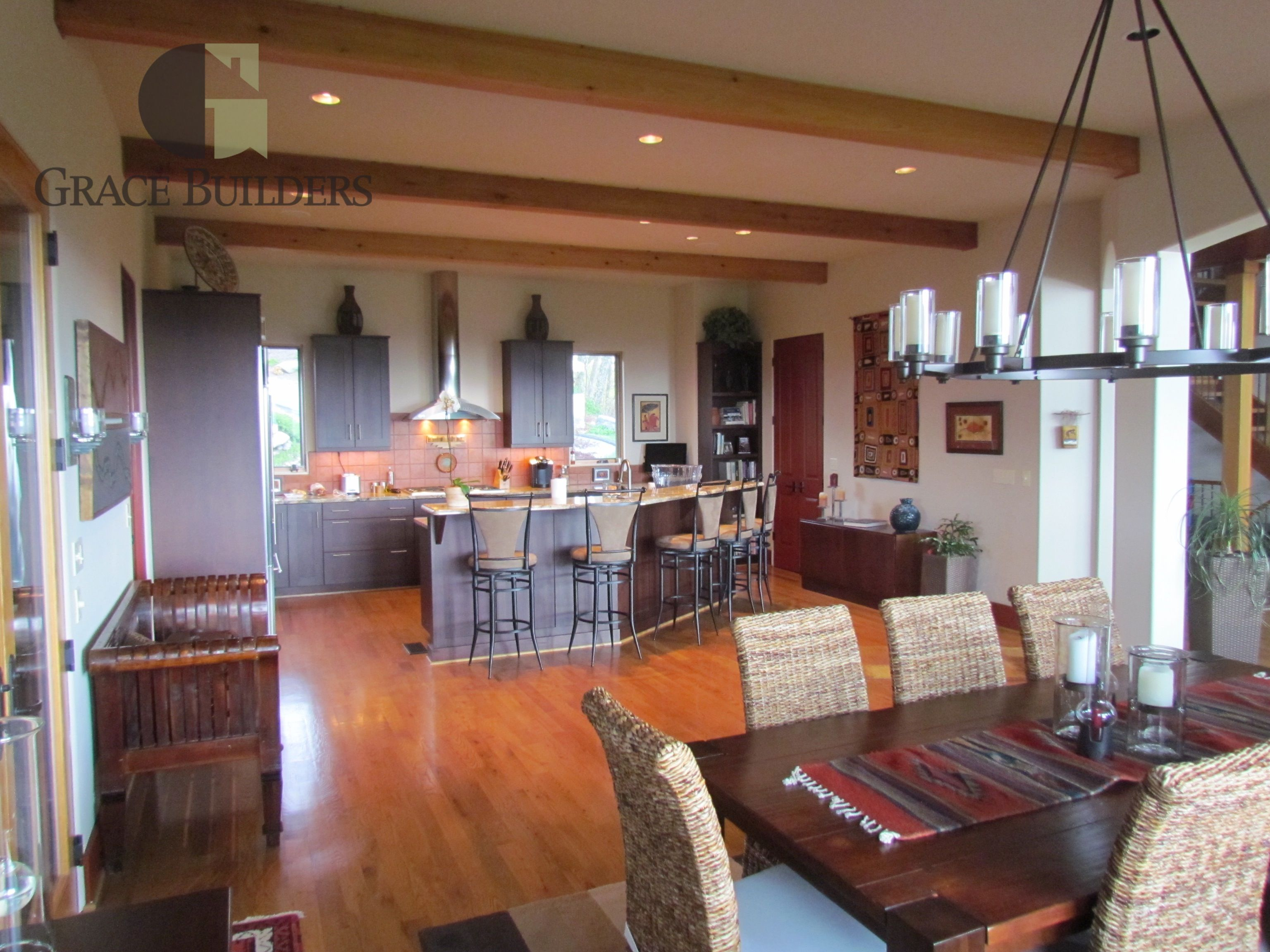 Grace Builders Interior, Kitchen, dining room, ceiling ...