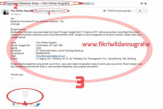 Cara Mengirim Lamaran Cv Lewat Email Mudah Diterima Kerja Cv