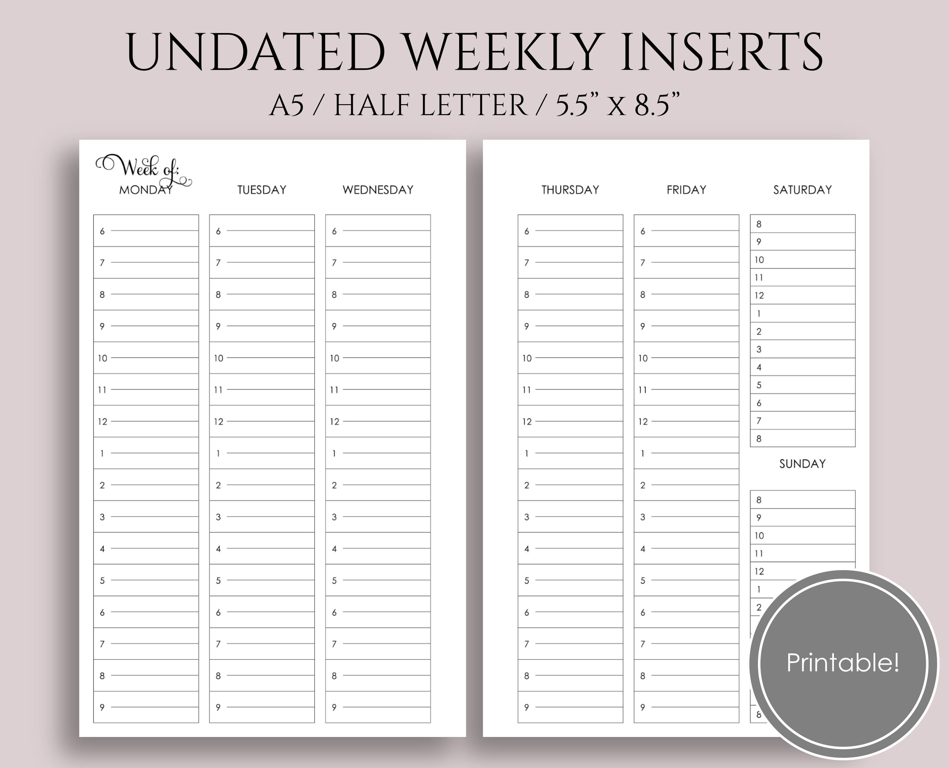 Free Planner Printable Library