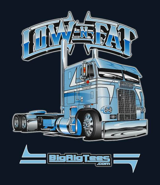 7fc0f93bd T-shirt design for BRT's retail line of T-shirts. Freightliner Cabover.