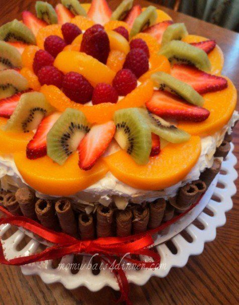 Fruit Topped Cake Cake Fruit cakes and Sweet tooth