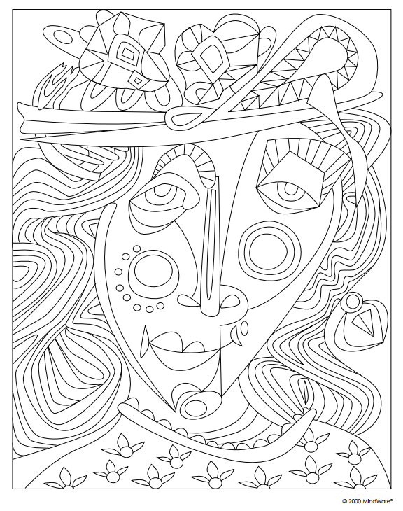 Each Page In The Masterscapes Coloring Book Offers Patterns Textures And Styles Based On Art Masterpieces Make Them Your Own Picasso Coloring Picasso Art Art
